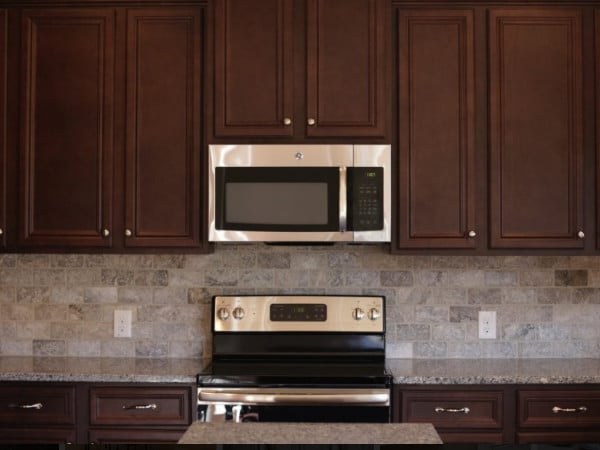 Tru Dark Brown Kitchen Cabinets